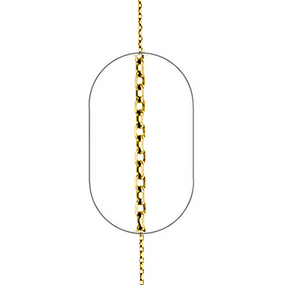 "Image of ""Silver Forzatina chain #1 goldplated 50cm"""