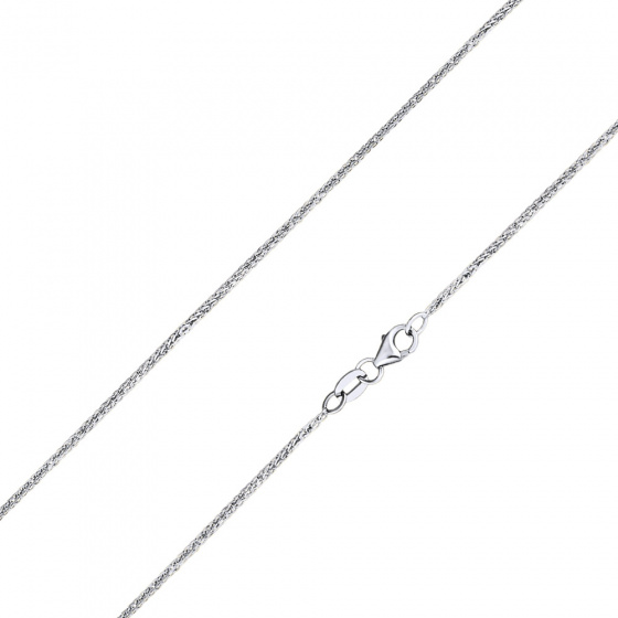 "Image of """"Spiga #1"" white gold square chain K14 40cm"""