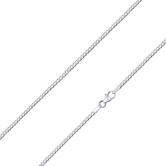 "Image of """"Gourmet #1"" white gold chain K9 45cm"""