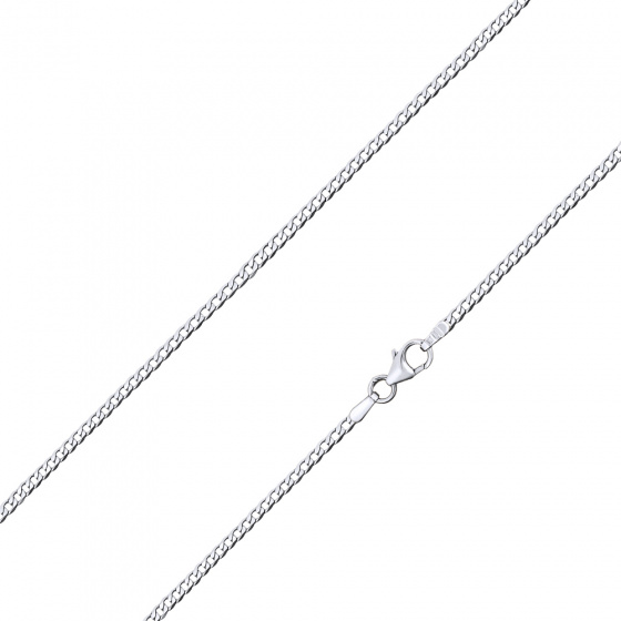 "Image of """"Gourmet #1"" white gold chain K9 50cm"""