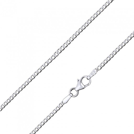 "Image of """"Gourmet #2"" white gold chain K9 50cm"""
