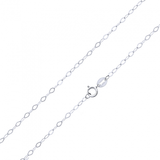 """Image of """"""""Rombo Piata #2"""" white gold chain K14 50cm"""""""