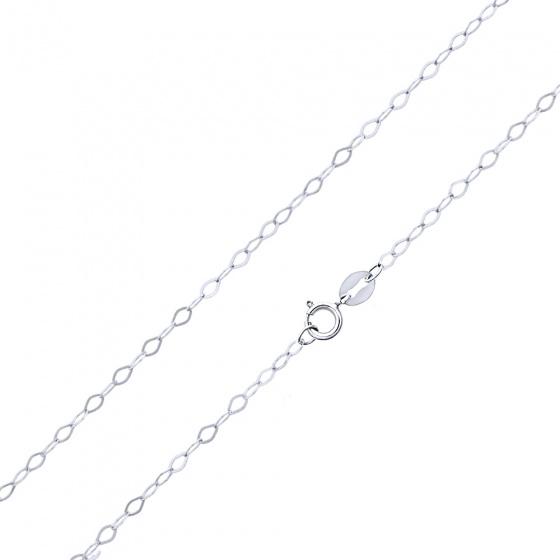 """Image of """"""""Rombo Piata #2"""" white gold chain K9 40cm"""""""