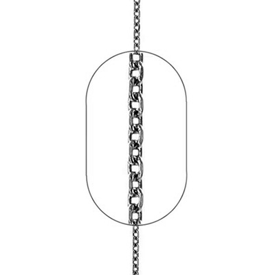 "Image of ""Silver men's Forzatina chain #3 black rhodium plated 45cm"""