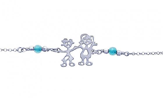 """Image of """"""""Mom & Little Girl"""" silver bracelet"""""""