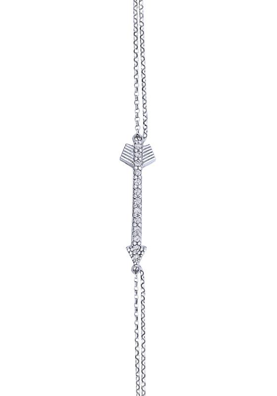 """Image of """"""""Shiny Arrow #1"""" silver bracelet"""""""