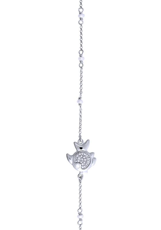 "Image of """"Ocean Life #3"" silver bracelet"""