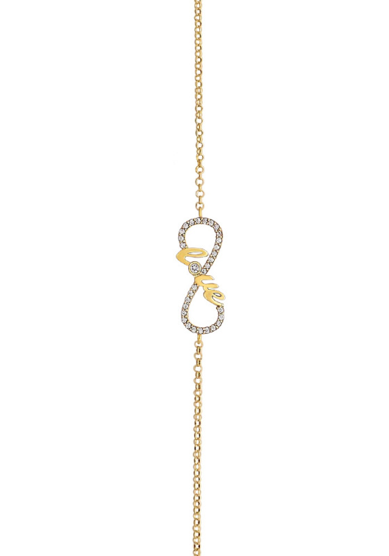 "Image of ""Love & Ιnfinity bracelet silver 925 goldplated"""