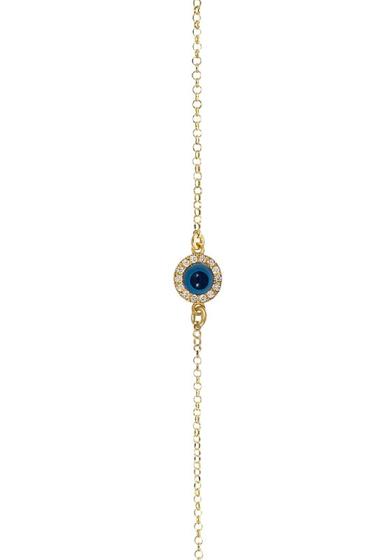"Image of ""Eye bracelet, silver 925 goldplated"""