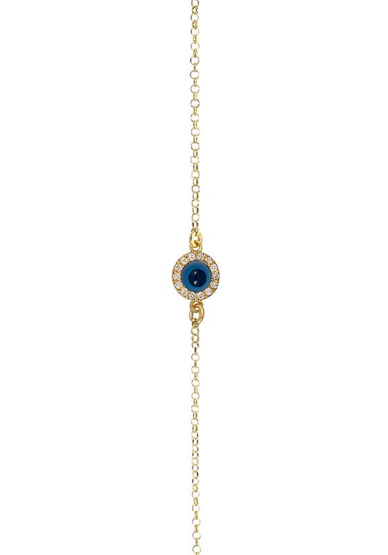 "Image of ""Eye bracelet, silver gold plated"""