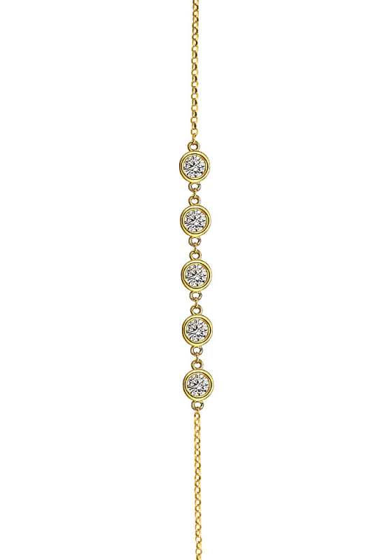 "Image of """"Fashionable"" silver bracelet gold plated"""