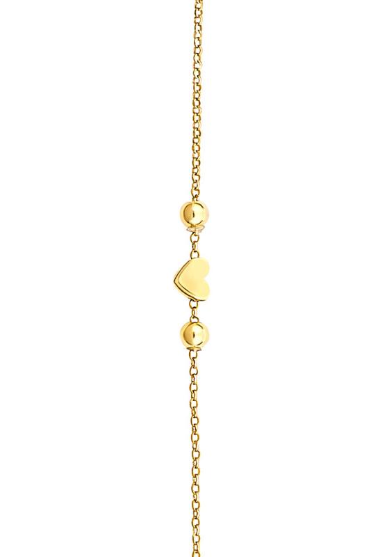 "Image of """"Festive Heart"" silver bracelet gold plated"""