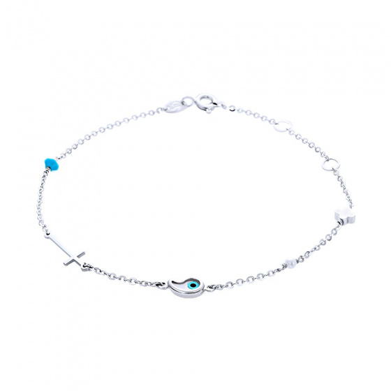 "Image of """"Charming Wishes"" white gold bracelet K14"""