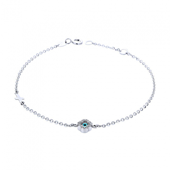 "Image of """"Charming Flower"" white gold bracelet K14"""