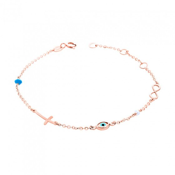 "Image of """"Charming Infinity"" rose gold bracelet K14"""