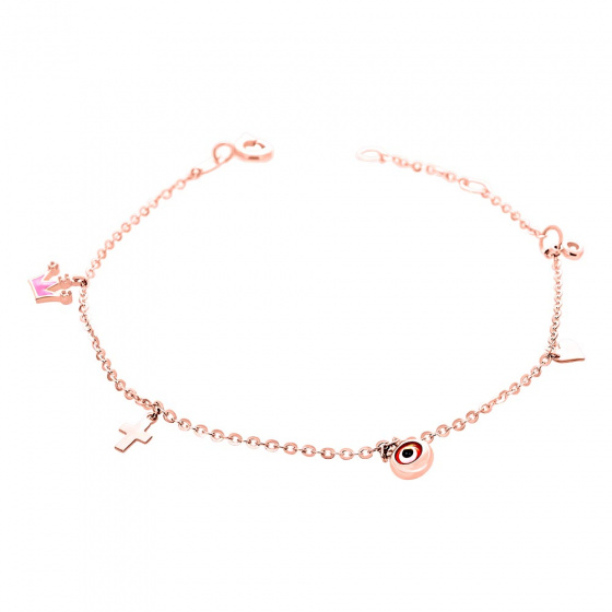"Image of """"Charming Crown"" rose gold bracelet K14"""
