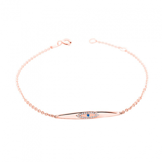 "Image of """"Elegant ID"" rose gold bracelet K14"""