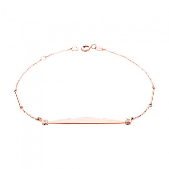 "Image of """"Secret ID"" rose gold bracelet K14"""