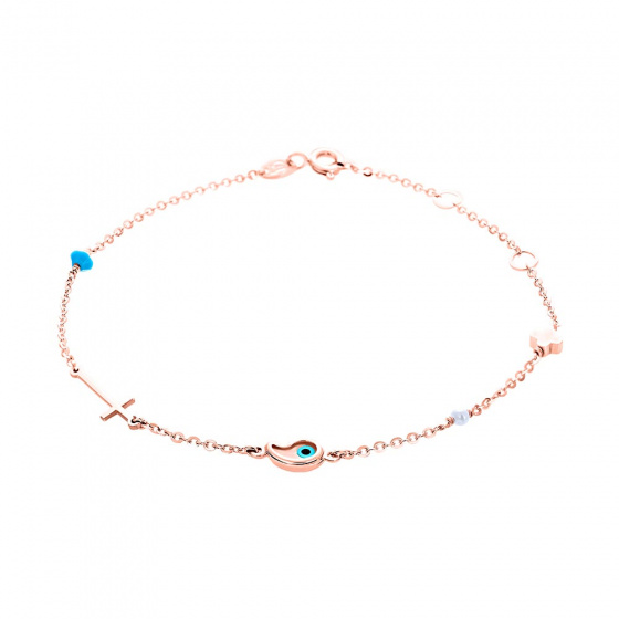 "Image of """"Charming Wishes"" rose gold bracelet K14"""