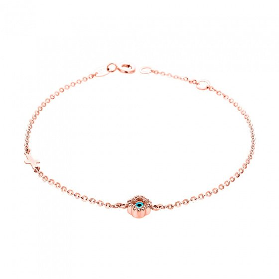 "Image of """"Charming Flower"" rose gold bracelet K14"""