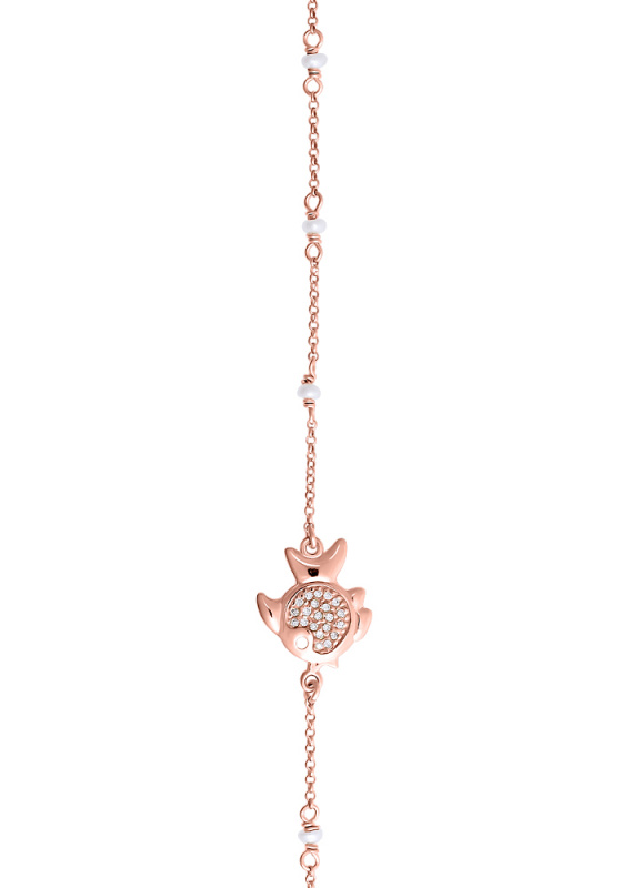 "Image of """"Ocean Life #3"" silver bracelet rose gold plated"""