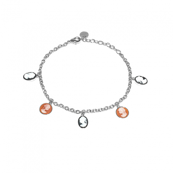 """Image of """"REBECCA Madama bracelet in silver stainless steel, BMMBBB04"""""""