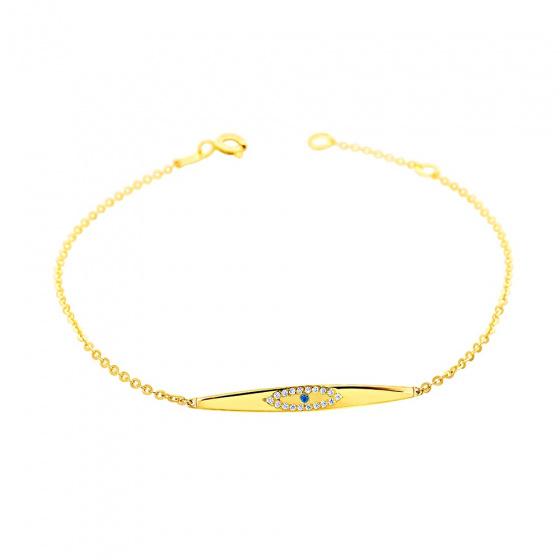 "Image of """"Elegant ID"" gold bracelet K14"""