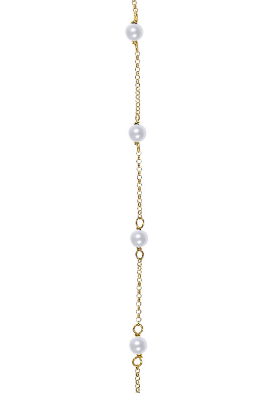 "Image of ""Rosary bracelet gold K14 with Pearls 18cm"""