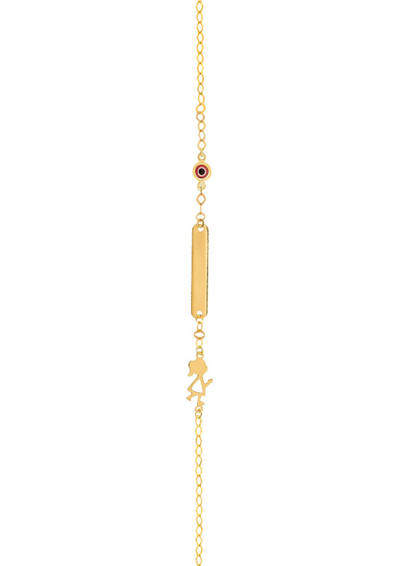 "Image of ""Gold ID bracelet Κ14, Β00519"""