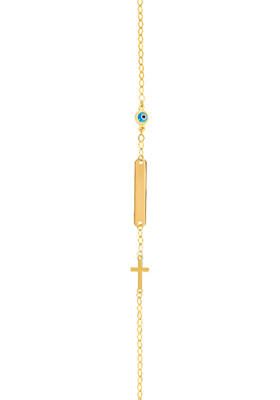 "Image of ""Gold ID bracelet Κ14, Β01519"""