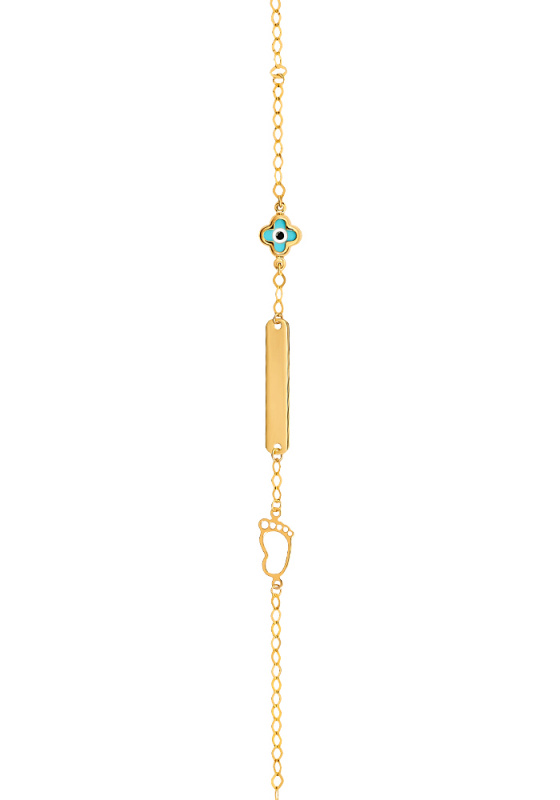 "Image of ""Gold ID bracelet Κ14, Β01619"""