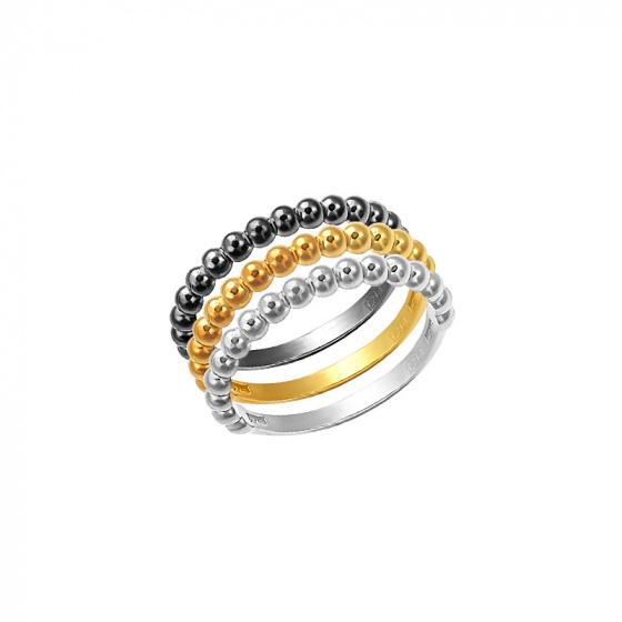 "Image of """"Pendulum Swing"" silver set of rings #2"""