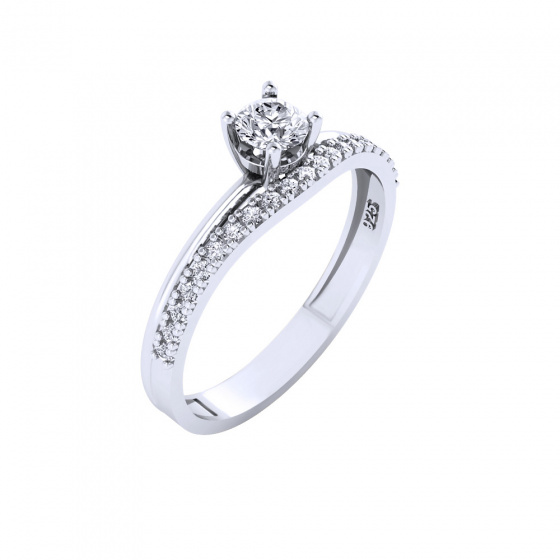 """Image of """"""""Queen of Stars"""" silver ring"""""""