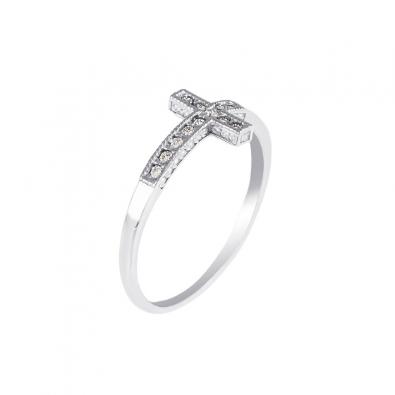 """Image of """"""""Holy Cross"""" silver ring"""""""