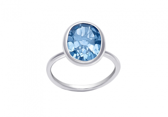 """Image of """"""""Turquoise Oval"""" silver ring"""""""