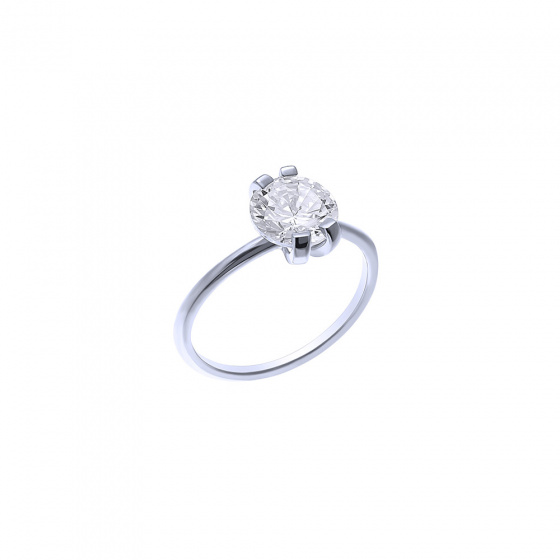 """Image of """"""""Grace"""" silver ring"""""""