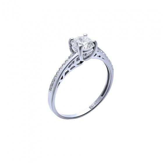 """Image of """"""""Grandeur"""" silver ring"""""""
