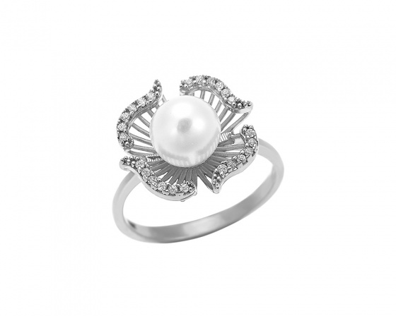 "Image of """"Deep Ocean Treasure"" silver ring"""