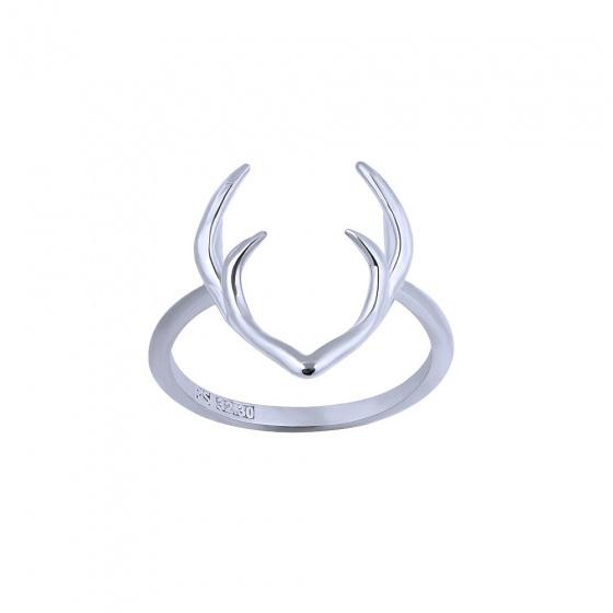 "Image of """"Deer Horns"" silver ring"""