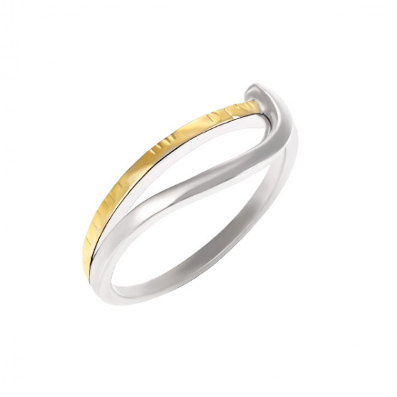 "Image of ""Silver 925 ring whith goldplated details"""