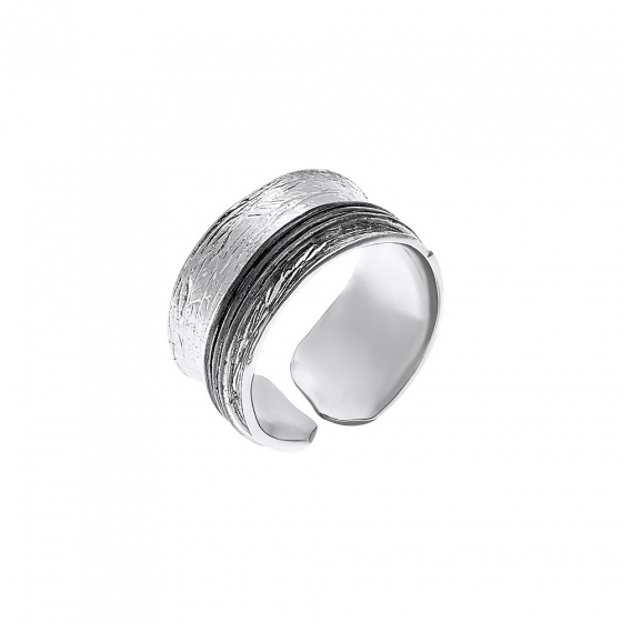 "Image of """"Light & Dark"" silver ring"""