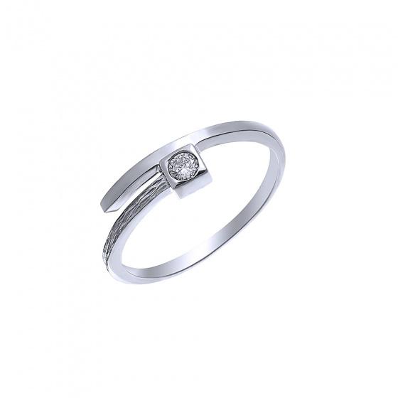 "Image of """"Precious Memories"" silver ring"""