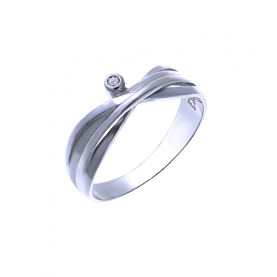 "Image of """"Evenstar"" silver ring"""