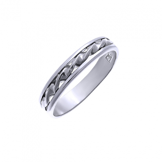"""Image of """"""""Double Helix #1"""" silver ring"""""""