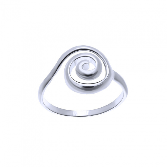 "Image of """"Maelstrom"" silver ring"""