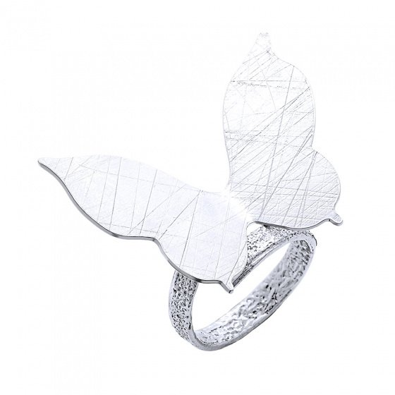 "Image of """"Nightfly"" silver ring"""