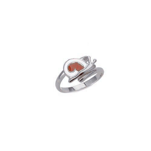 """Image of """"""""Lovely Snail"""" silver children's ring"""""""