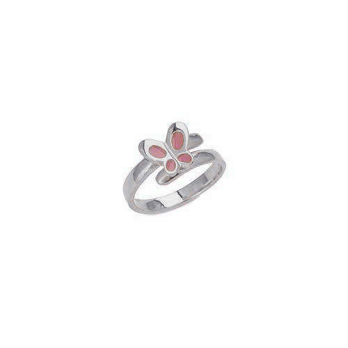 "Image of """"Lovely Butterfly"" silver children's ring"""