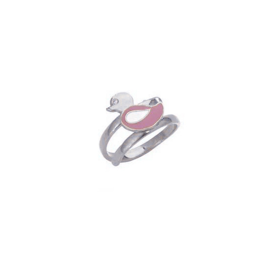 "Image of """"Lovely Bird"" silver children's ring"""