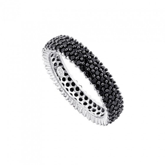 "Image of """"Black Magic Woman"" silver ring"""